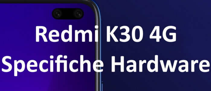 Redmi K30 4G le specifiche hardware