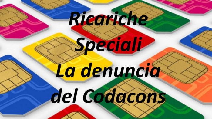 Codacons denuncia Wind, TIM e Vodafone per le ricariche speciali