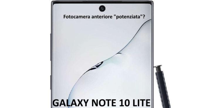 Galaxy Note 10 Lite: camera anteriore potenziata?