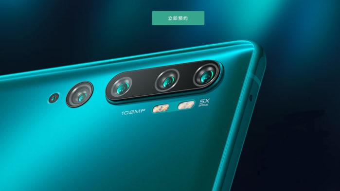 Xiaomi Mi Note 10 penta camera dettagli Italia
