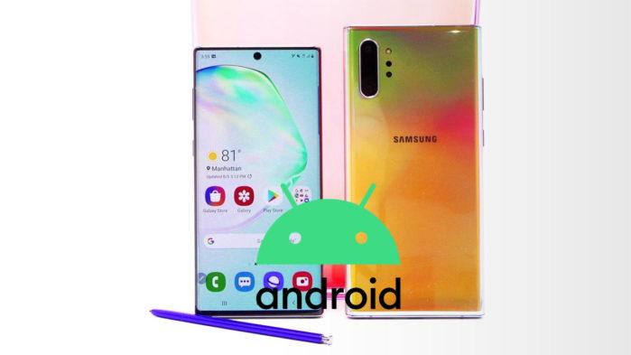 Galaxy Note 10 Android 10 stabile rilasciata