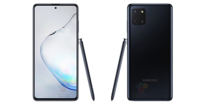 Galaxy Note 10 Lite design definitivo