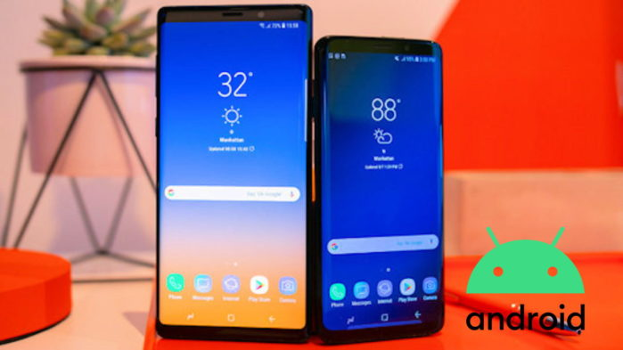 Galaxy Note 9 e Galaxy S9 Android 10 scanner iride