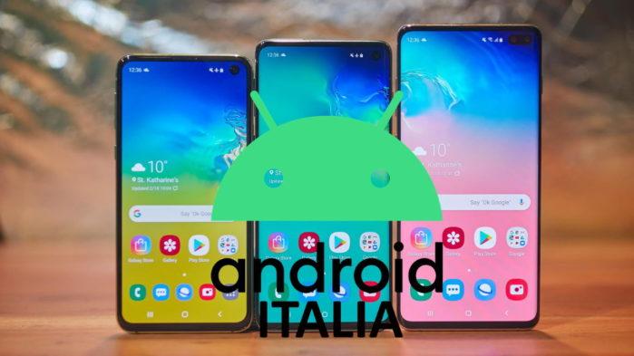 La gamma Galaxy S10 riceve Android 10 in Italia
