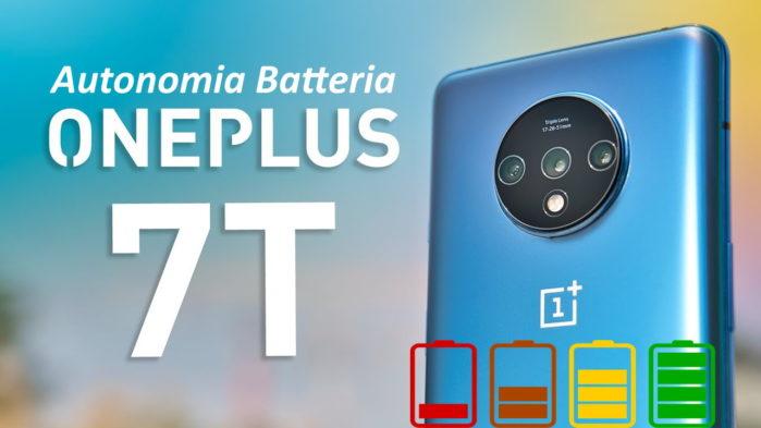 OnePlus 7T recensione autonomia batteria