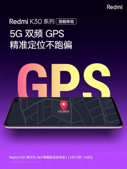 Redmi K30 Dual GPS