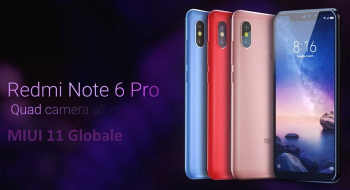 Xiaomi Redmi Note 6 Pro MIUI 11 aggiornamento