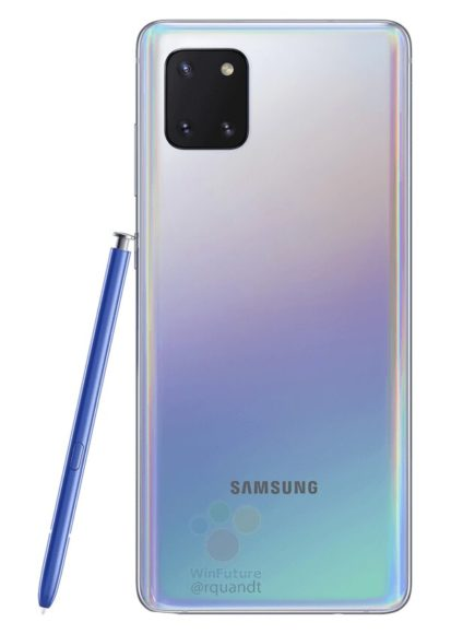 Galaxy Note 10 Lite cover bianca + S pen