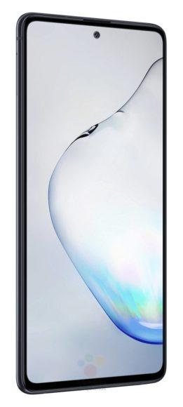 Galaxy Note 10 Lite frontale nero