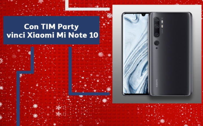 TIM Party concorso Xiaomi Mi note 10