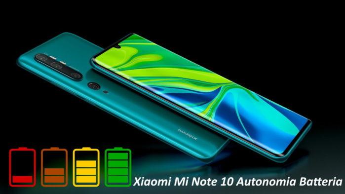 Xiaomi Mi Note 10 autonomia batteria: la recensione