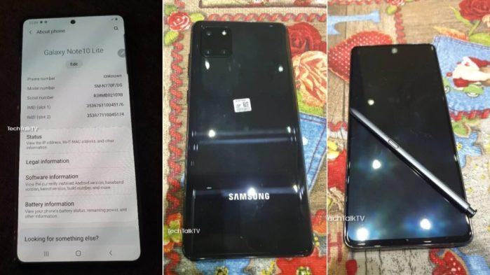 Samsung Galaxy Note 10 Lite immagini dal vivo in anteprima