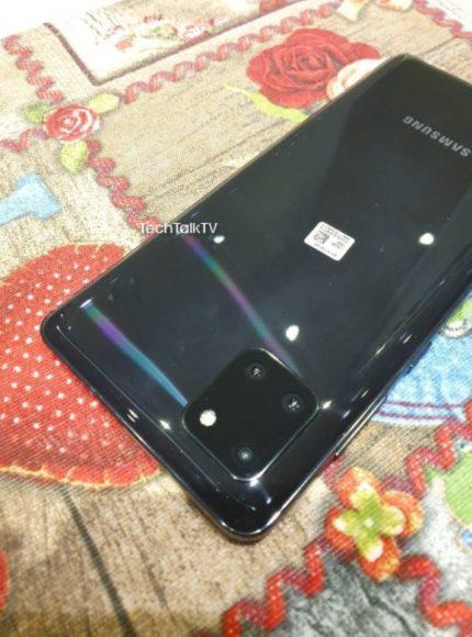 Galaxy Note 10 Lite immagini posteriore e camere