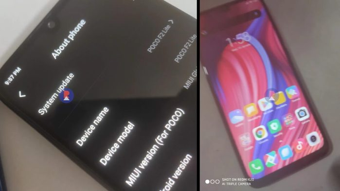 PocoPhone F2 Lite rumors immagini