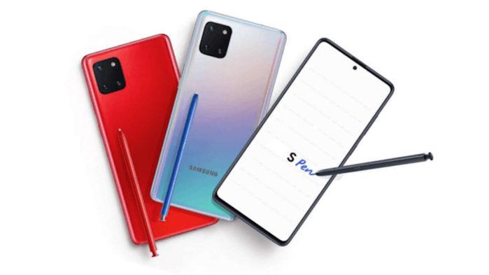 Samsung Galaxy Note 10 Lite ufficiale