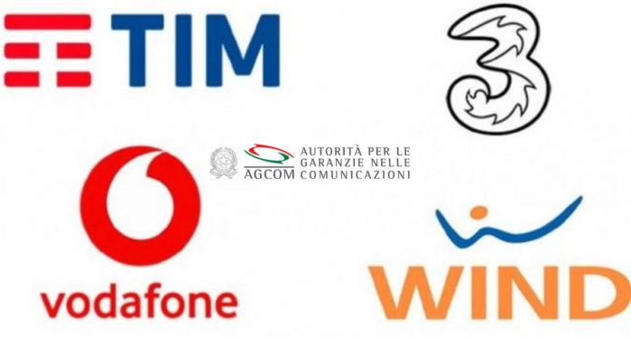 TIM Wind Vodafone multa AGCOM gennaio 2020