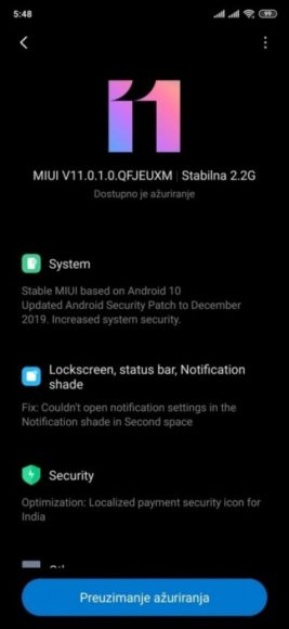 Xiaomi Mi 9T Android 10 MIUI 11 globale