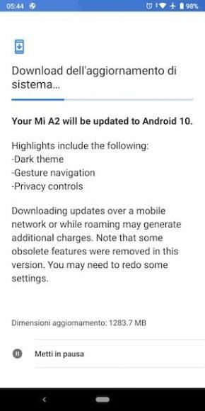 Xiaomi Mi A2 Android 10