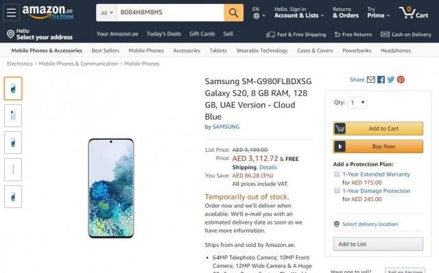 Galaxy S20 Amazon