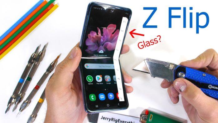 Samsung Galaxy Z Flip test resistenza