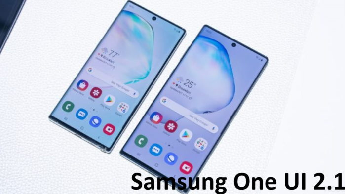 Galaxy S10 e Note 10 Samsung One UI 2.1