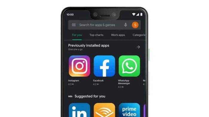 Google Play modalità scura attivabile su tutti gli Android