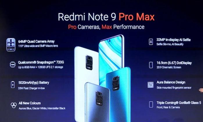 Redmi Note 9 Pro Max riassunto specifiche