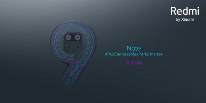 Redmi Note 9 data ufficiale