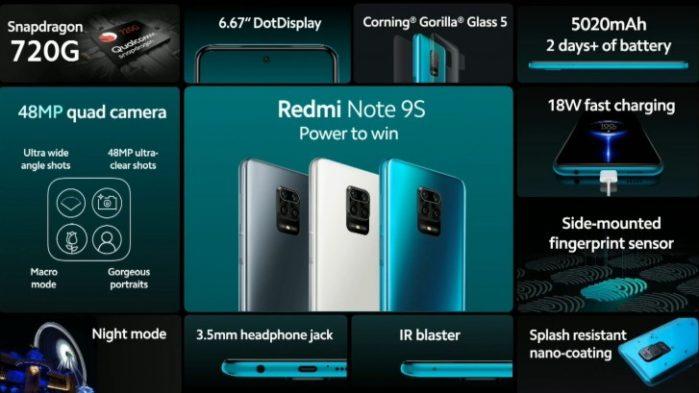 Redmi Note 9S dettagli
