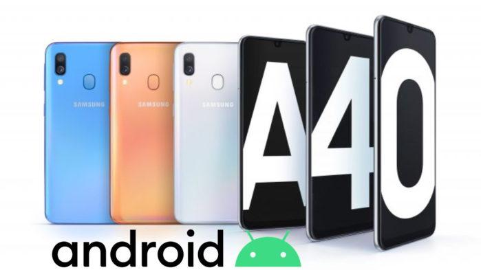 Samsung Galaxy A40 Android 10 aggiornamento in Italia