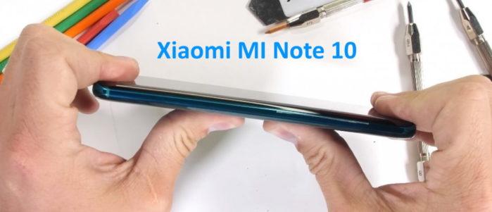 Xiaomi Mi Note 10 test resistenza