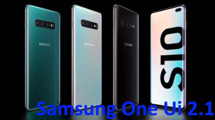Galaxy S10 Samsung One UI 2.1