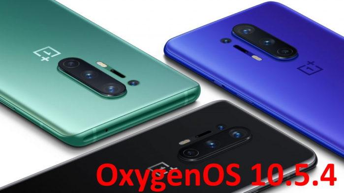 OnePlus 8 e 8 Pro OxygenOS 10.5.4 aggiornamento