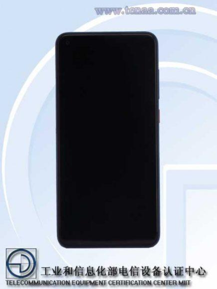 Redmi Note 9 frontale TENAA