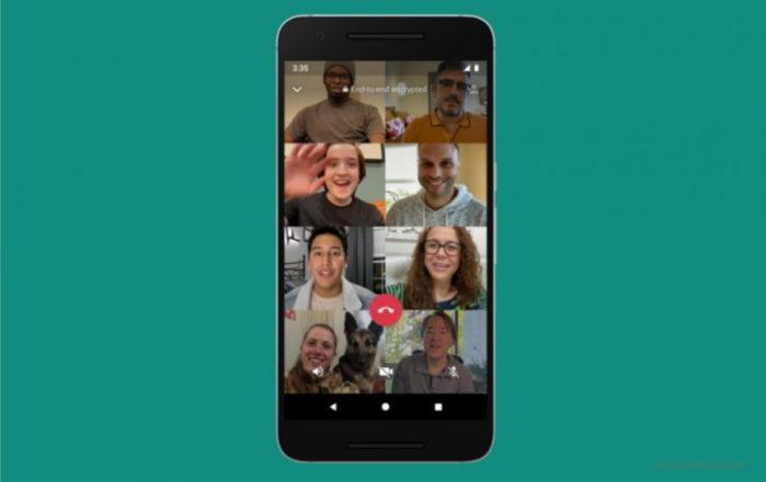 WhatsApp: fino a 8 persone nelle conversazioni audio e video di gruppo