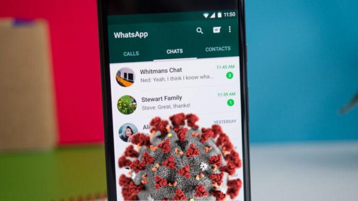 WhatsApp CoronaVirus inoltro messaggi ad una chat per volta