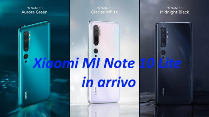 Xiaomi Mi Note 10 Lite rumors certificazioni