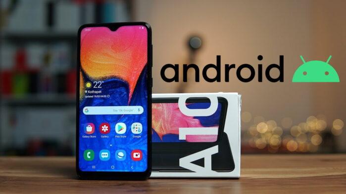 Galaxy A10 aggiornamento Android 10 in Italia