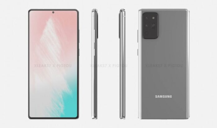 Galaxy Note 20 design render 3D
