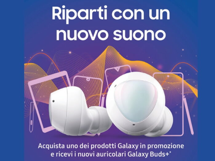 Galaxy S20, S10, Note 10 regalano le Galaxy Buds+