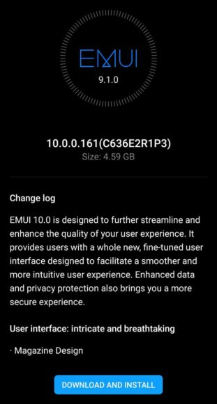 Huaewei P20 Pro Android con EMUI 10
