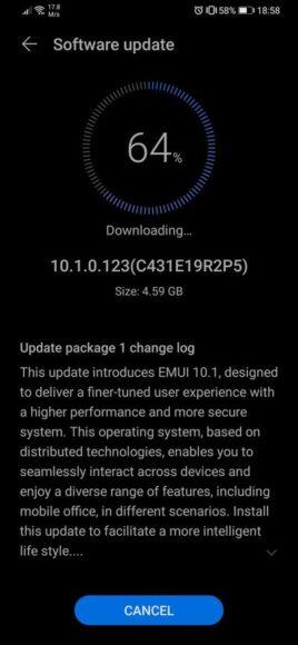 Huawei P30 e P30 Pro EMUI 10.1 aggiornamento