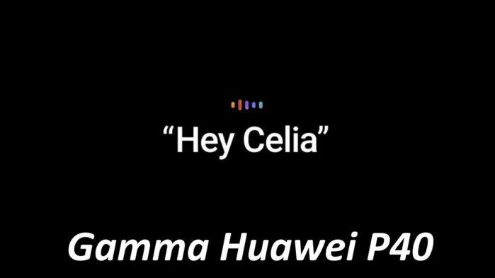 Huawei P40 assistente vocale Celia