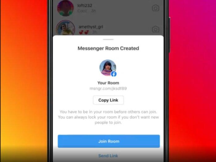 Instagramm integra Facebook Messenger Room