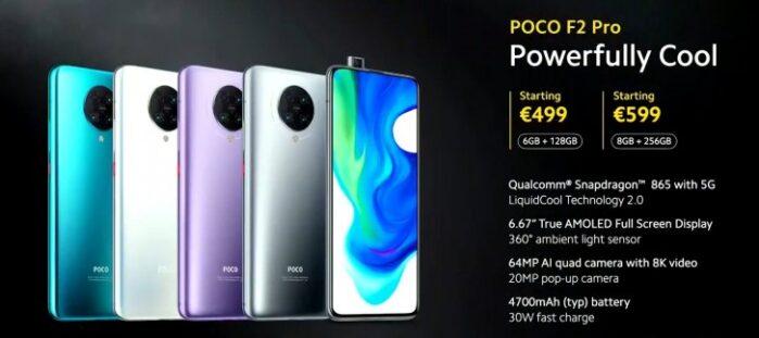 Poco F2 Pro prezzo Europa