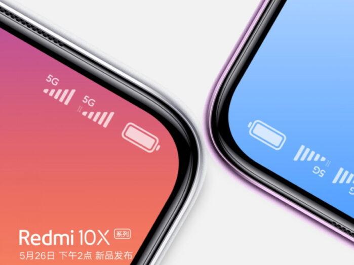 Redmi 10X con dual sim 5G