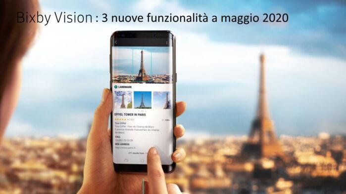 Samsung Bixby Vision si aggiorna a maggio 2020 con tre nuove funzionalità