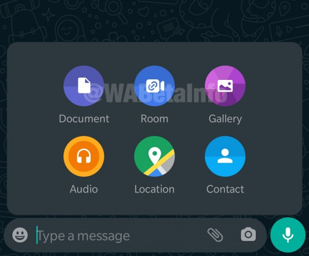 WhatsApp Beta Android con Facebook Messenger Room