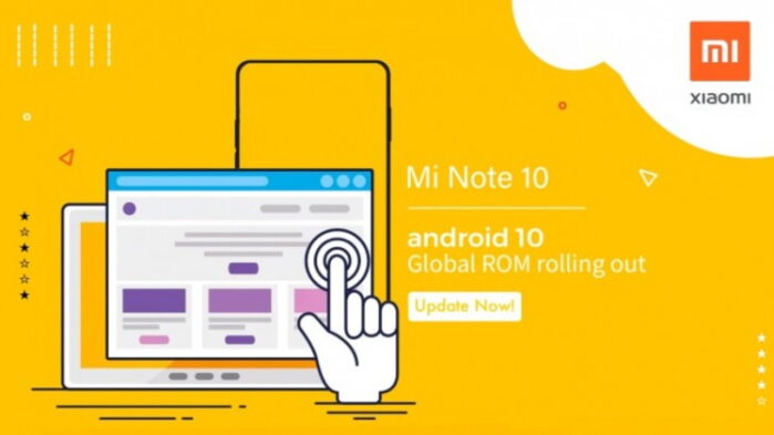 Xiaomi MI Note 10 Android 10 globale