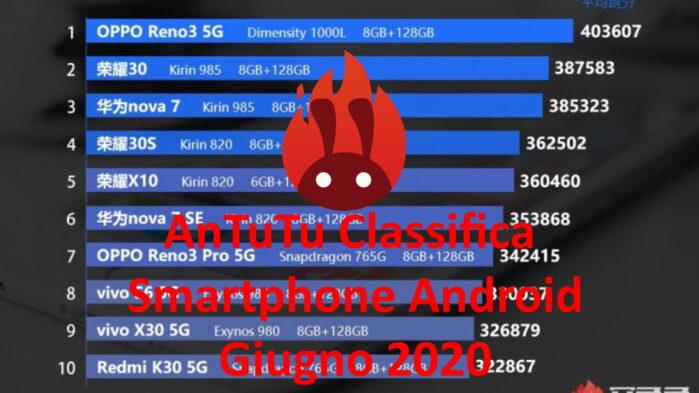 AnTutu Classifica giugno 2020 smartphone android
